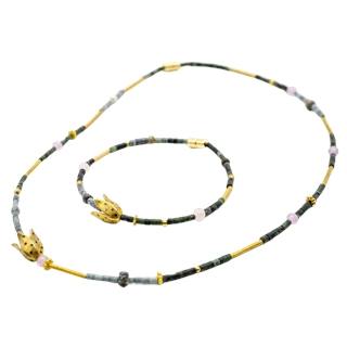 Kette & Armband (Silber vergoldet)
