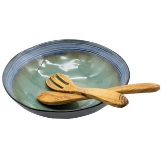 Salatschale & Salatbesteck aus Akazienholz