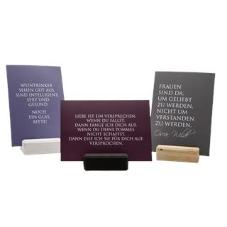 Spruchkarten mit Kartenhalter