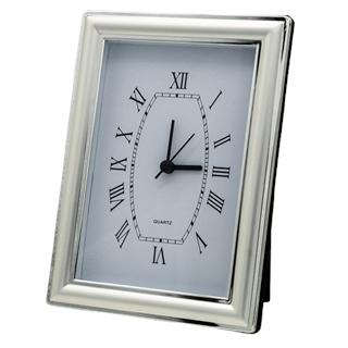 Silver Plated Quartz Uhr im Bilderrahmen