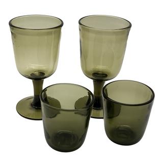 Wein- & Wassergläser (Rauchglas/Mundgeblasen)