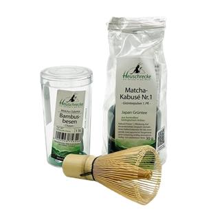Matcha-Tee-Set von Heuschrecke