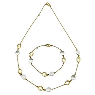 Collier & Armband (Gold bicolour)