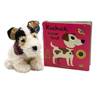 Kuschelhund Bromer & Babybuch
