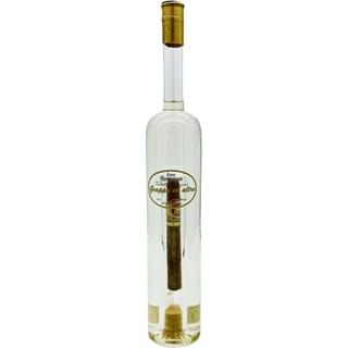 Grappa mit Zigarre in der Flasche