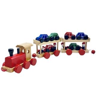 Spielzeug-Eisenbahn aus Holz