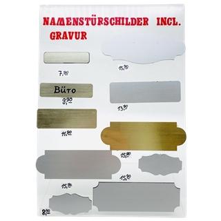 Namenstürschilder inkl. Gravur