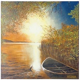 Abendlicht (Acryl auf Leinwand | 40 x 40 cm)