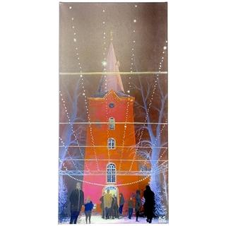 Kirchplatz (Acryl auf Leinwand | 40 x 80 cm | KS 1320)