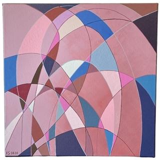 Farbspiel Magenta (Acryl auf Leinwand | 40 x 40 cm | KS 0820)