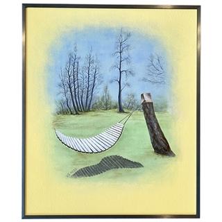 Hängematte (Acryl auf Malkarton| 50 x 60 cm | KS 1620)