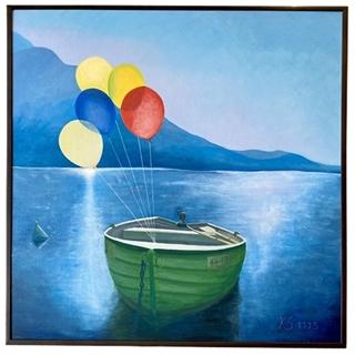 Bunte Träume (Acryl auf Leinwand-Karton | 50 x 50 cm | KS 1115)