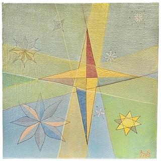 Sterne (Acryl auf Leinwand-Karton | 30 x 30 cm | KS 2120)
