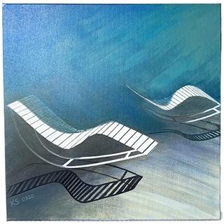 Kurparkschwung (Acryl auf Leinwand | 50 x 50 cm | KS 0320)