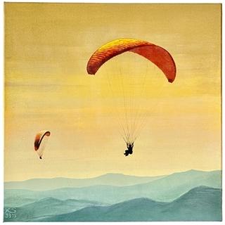 Gleitschirme (Acryl auf Leinwand | 50 x 50 cm | KS 3319)