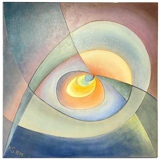Ins Zentrum (Acryl auf Leinwand | 80 x 80 cm | KS 1019)