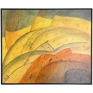 Bunte Schwingungen (Acryl auf HDF-Malplatte | 50 x 60 cm | KS 1119)