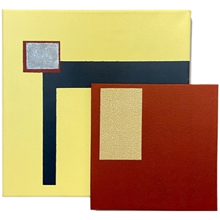 Die goldene Mitte (Acryl auf Leinwand | 30 x 30 cm | KS 0321)
