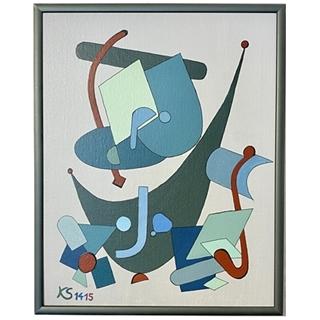 Fragmente (Acryl auf Leinwand-Karton | 25 x 30 cm | KS 1415)