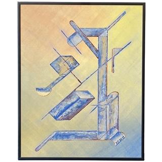 Konstrukt X (Acryl auf Malkarton | 40 x 50 cm | KS 2419)