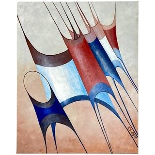 Tricolore (Acryl auf Leinwand | 80 x 100 cm | KS 0317)