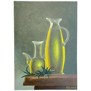 Essig & Öl (Acryl auf Leinwand | 50 x 70 cm | KS 0918)