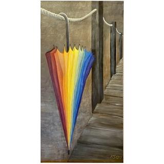 Der Schirm (Acryl auf Leinwand | 50 x 100 cm | KS 1319)