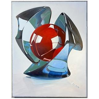 Die rote Kugel (Acryl auf Leinwand | 70 x 90 cm | KS 1018)